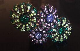 Green and purple jewel ring (m)