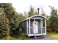 Glamping Shepherd Hut with all Fixtures and Fittings