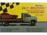 24/7 car recovery and transport