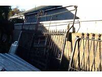 Large ornate cast iron gates