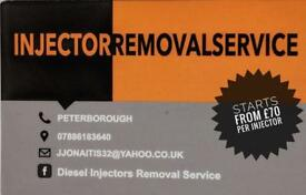 Injector removal service