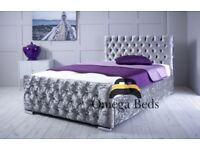 Tokyo Diamond Fabric Upholstered Bed Frame 4ft Small Double Bed