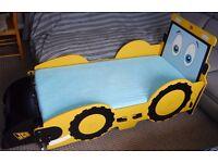 Boys, junior bed My First JCB digger frame.. 140x70cm mattress.