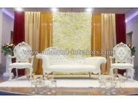 BRAND NEW Paris 3 piece Chaise Lounge - White Longue Set Wedding Luxury Sofa Furniture French Throne