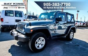 2015 Jeep Wrangler SPORT, SIDE STEPS, SOFT TOP, A/C, MANUAL