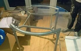 next 90cm round dining table no chairs ok condition
