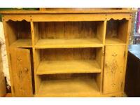 vintage old antique cabinet shelve with door