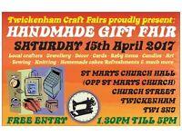 TCF's Handmade Gift fair - Twickenham - APRIL