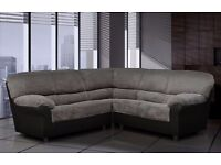 *COME AND VIEW IT ,TRY IT THEN BUY IT* BRAND NEW CANDY FABRIC CORNER SOFA SUITE BLACK OR BROWN