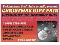 TCF's CHRISTMAS handmade gift fair - Twickenham - 9th DECEMBER 2017