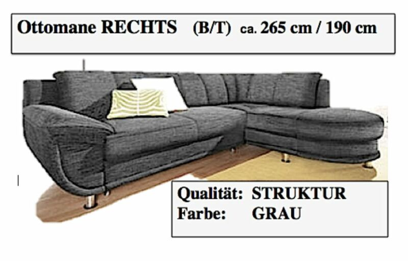 sofa polsterecke l form primabelle schwarz ron or ob in niedersachsen oyten ebay kleinanzeigen. Black Bedroom Furniture Sets. Home Design Ideas