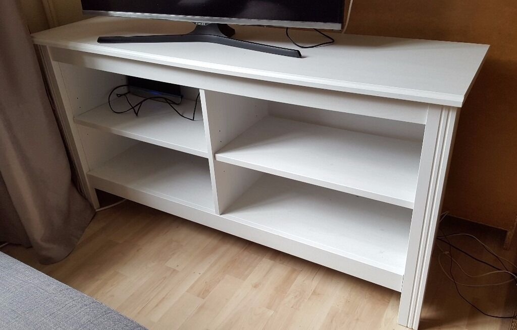 Ikea brusali tv bench white in guildford surrey gumtree