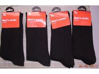 12 pairs Sainsbury TU black gents / boys socks Size 9-12 **NEW** Four Marks / ALTON