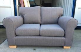 Grey Fabric 2 Seater Sofa (New Ex Display)