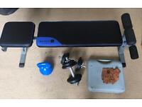 Domyos ABS 500 Bench and accessories