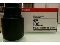 Canon 100mm f/2.8L Macro, Immaculate condition.