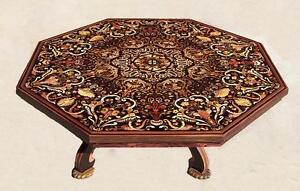 Unique remarkable hand crafted octagon 8 sides table.