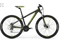 Almost brand new ladies and gents Merida mountain bikes