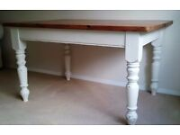 Large, Shabby Chic, Solid Pine Kitchen Table