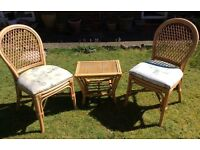 Conservatory chairs x 2 and side table