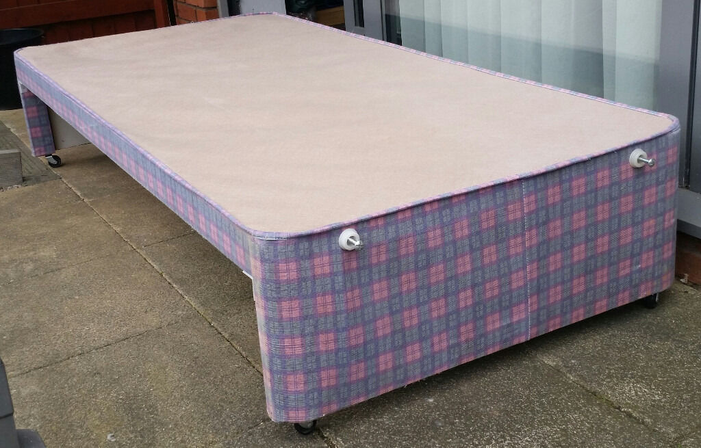 single bed, allows storage under. In good condition.