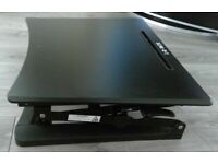 L-E-VATE height adjustable stand desk riser with hydraulics
