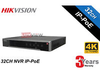 Hikvision Network Video Recorder NVR 32 Channel 16 PoE Ports (DS-7732NI-I4/16P) - Upto 16TB HDD