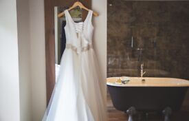 Beautiful Designer Wedding Dress Size 8-10