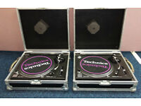 Pair of Techincs 1210 Mk2 Record Decks in Flight Cases