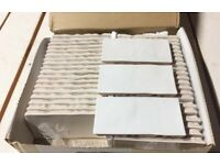 Ceramic tiles from Mandarin Stone - Zellige white metro gloss 5m2