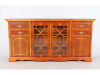 Yew Sideboard Credenza *FREE DELIVERY*Glass Large Cabinet
