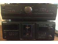 MISSION 753 SPEAKERS/TECHNICS AMP/SONY CDP-CX450