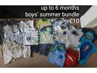 Boys summer bundle 3-6 months, H&M, Next, Ted Baker, Mothercare, etc.