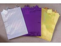 12 x Premium Assorted Holographic Gift Bags - Large H46cm x W33cm x D10cm - XL = NEW