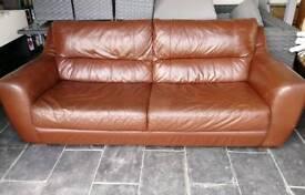 Ikea 3 seater leather sofa