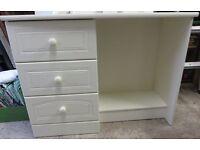 Dressing Table Desk Shabby Chic Cream White 3 drawers Alstons