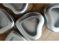 Heart shaped window tins /containers - 3 x 12 pcs