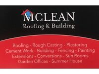 Guaranteed roofing Glasgow/roofer/roughcasting/new roof/exterior painting