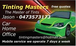 Tinting masters Window tinting expert mobile service available Campbelltown Campbelltown Area Preview