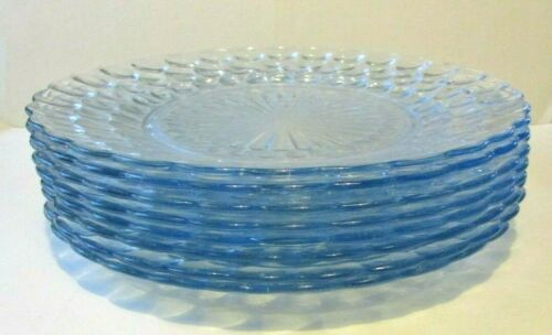 ANCHOR HOCKING SAPHIRE BLUE BUBBLE DINNER PLATES
