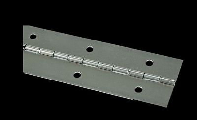 """2"""" x 72 PIANO HINGE Steel Finish Continuous Full Surface Non-removable Pin"""