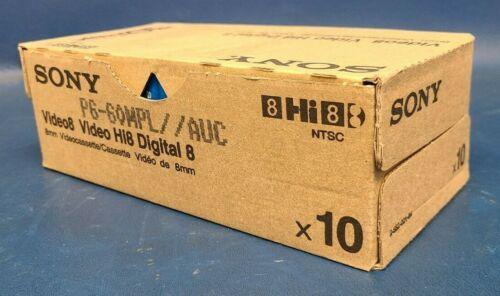 Lot Of 10, Brand New Sealed OEM Sony 8mm P6-60MPL 60 Min SP 120 Min LP. (Hi8)