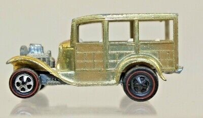 Hot wheels Redlines Classic 31 Ford Woody 1968 Mattel Gold