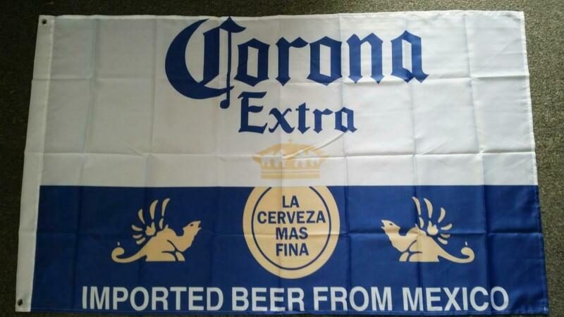 CORONA BEER FLAG MEXICO CERVEZA - 90cm x 150cm BAR FLAG MAN CAVE SHED