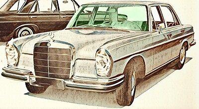 Mercedes S-Klasse  W108 , W109  BJ 66-73 Windschutzscheibe *NEU* grün getönt