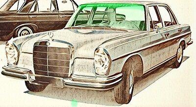 Mercedes S-Klasse  W108  W109  BJ 66-73 Windschutzscheibe *NEU* grün + Grünkeil