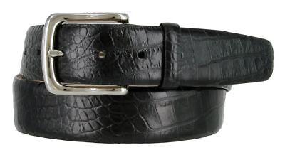 Men's Genuine Leather Designer Dress Crocodile Belt 1-1/2