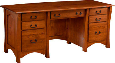 Custom Made | New | Executive | Desk Home Office Furniture Solid Wood | USA Made
