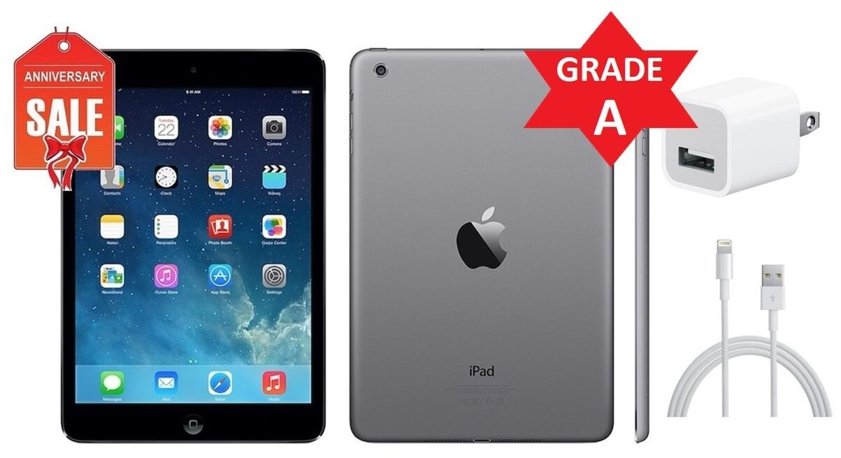 Apple iPad Mini 1st Gen - 16GB 32GB 64GB - Wi-Fi 7.9in - Black Gray White (R)