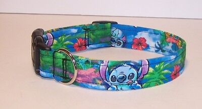 Wet Nose Designs Colorful Stitch Dog Collar Lilo & Stitch Hawaiian Tropical  Designer Hawaiian Dog Collar